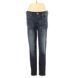 Express Stella Skinny Ankle Zipper Jean Denim